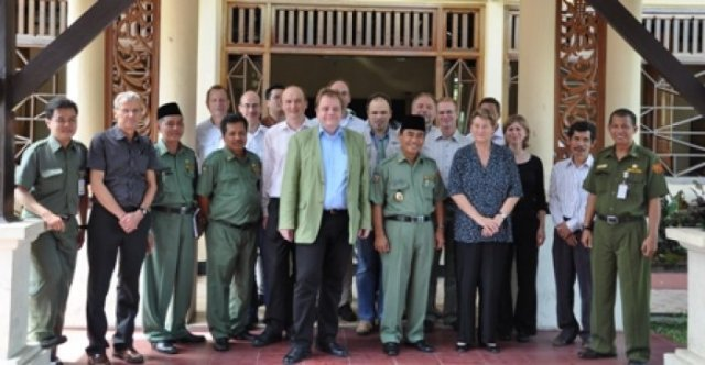 Delegation with Government officials of Tarakan District