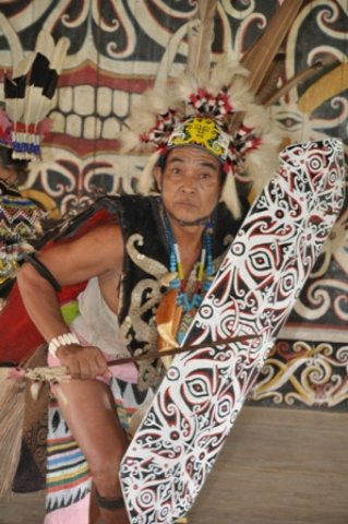 traditional Dayak dance
